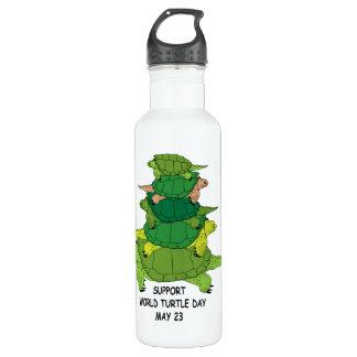 Garrafa D'água Mundo tartaruga dia o 23 de maio