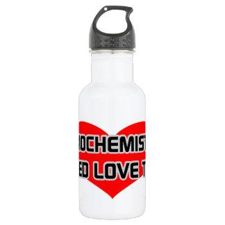 Garrafa D'água Os bioquímicos precisam o amor demasiado