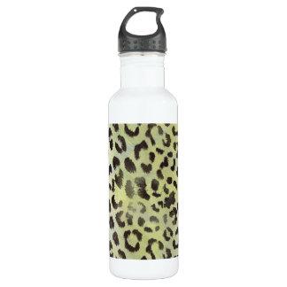 Garrafa D'água Pele do leopardo no verde limão da tangerina