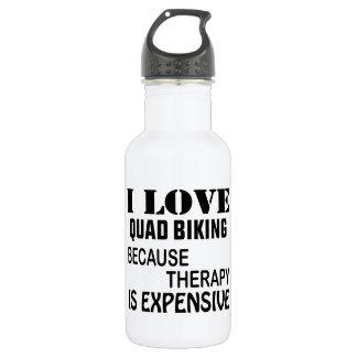 Garrafa De Aço Inoxidável Eu amo o quadrilátero que Biking porque a terapia