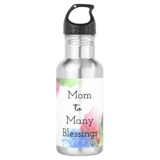 Garrafa De Aço Inoxidável Mamã a muitas bênçãos