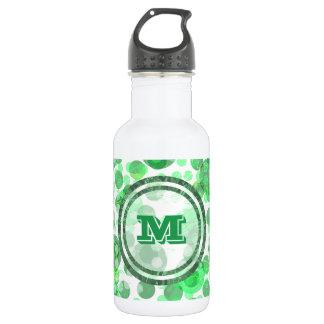 Garrafa De Aço Inoxidável O verde mancha o monograma
