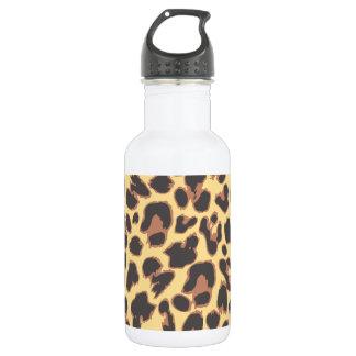 Garrafa De Aço Inoxidável Padrões da pele animal do impressão do leopardo