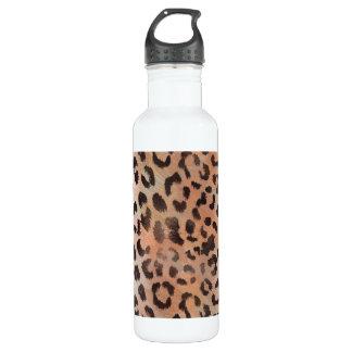 Garrafa De Aço Inoxidável Pele do leopardo no abricó da tangerina