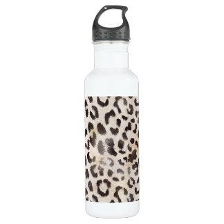 Garrafa De Aço Inoxidável Pele do leopardo no marfim da tangerina