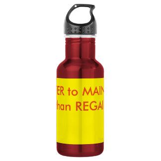 garrafa de água com palavras inspiradores da marca