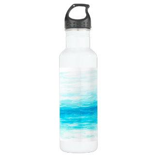 Garrafa de água da aguarela das ondas