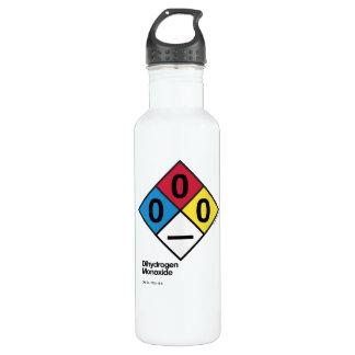 Garrafa de água da etiqueta da segurança do