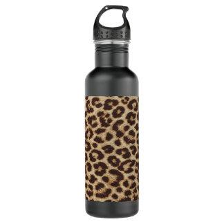 Garrafa de água do impressão do leopardo