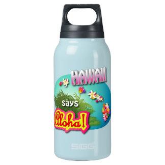 Garrafa De Água Térmica Havaí diz Aloha!
