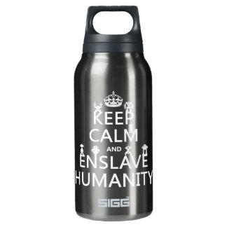 Garrafa De Água Térmica Mantenha calmo e subjugue a humanidade (os robôs)