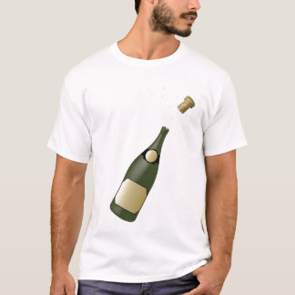 garrafa do champanhe camisetas