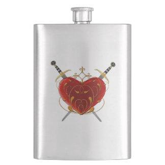 Garrafa do coração & dos punhais porta bebidas