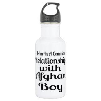 Garrafa Relação com menino afegão