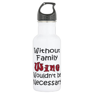 Garrafa Sem vinho da família