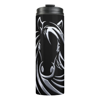 Garrafa Térmica Cabeça de cavalo de prata