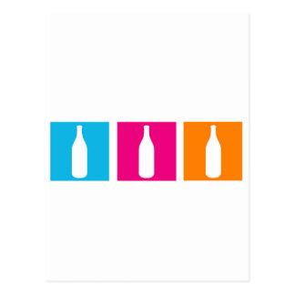 Garrafas de vinho para a celebração cartão postal