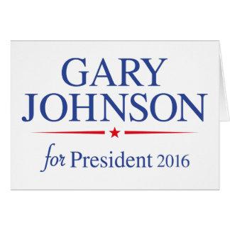 Gary Johnson 2016 Cartão
