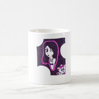 gatinho bonito caneca de café