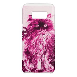 GATINHO COM ROSAS, branco fúcsia cor-de-rosa Capa Case-Mate Samsung Galaxy S8