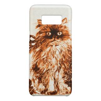 GATINHO COM ROSAS, Brown e branco Capa Case-Mate Samsung Galaxy S8