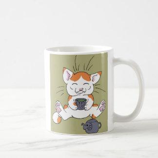 Gatinho do chá caneca de café