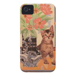 Gatinho do Peekaboo: Caixa bonito de Blackberry Capa Para iPhone 4 Case-Mate