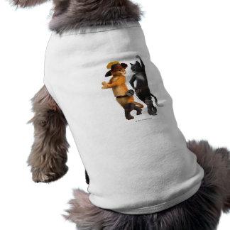 Gatinho do Puss do CG Camisa Sem Mangas Para Cachorro