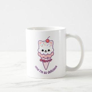 Gatinho do sorvete caneca de café