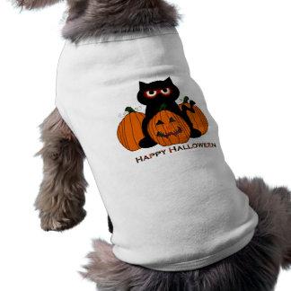 Gatinho o Dia das Bruxas de Spooooky Camisa Sem Mangas Para Cachorro