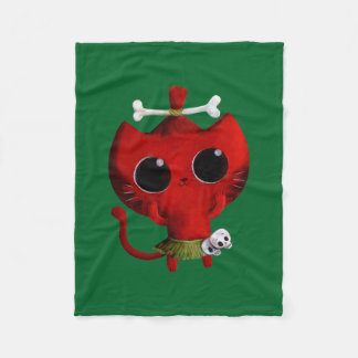 Gato adorável do Dia das Bruxas do canibal Cobertor De Lã