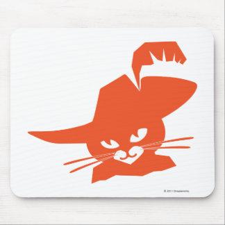 Gato alaranjado mouse pad