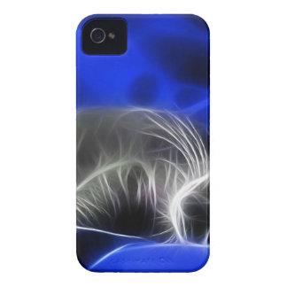 gato azul capa iPhone 4