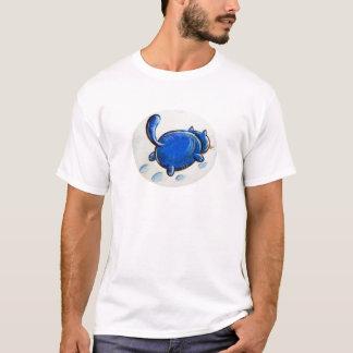 Gato azul na neve tshirt