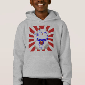 Gato bonito afortunado do neko no sol de ascensão t-shirts