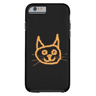 Gato bonito do gengibre capa tough para iPhone 6