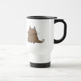 Gato carnudo pequeno gordo bonito do gatinho caneca térmica