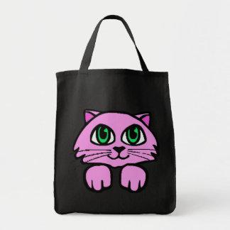 Gato cor-de-rosa do rosa do saco do gato bolsa de lona