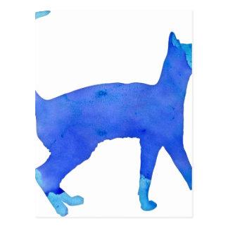 Gato da aguarela cartão postal