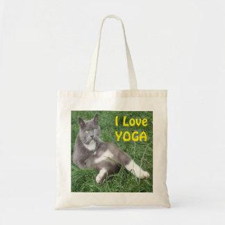 Gato da bolsa eu amo a ioga