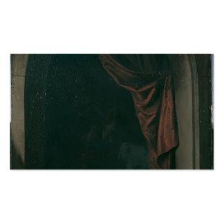 Gato de Gerrit Dou A na janela dos estúdios de uns Cartão De Visita
