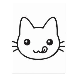 Gato de Kawaii Cartão Postal