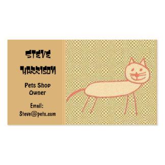 Gato de sorriso cartão de visita
