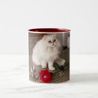 Gato do amor eu agrido - customizável caneca