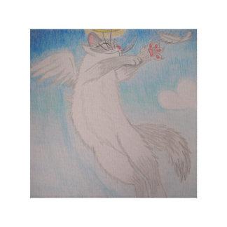 Gato do anjo impressão em tela canvas