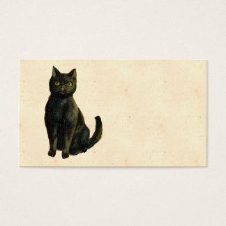 Gato do Dia das Bruxas do vintage Cartão De Visitas