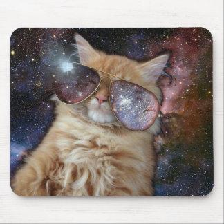 Gato do espaço mouse pad