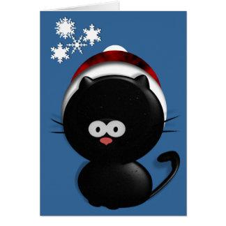 Gato do feriado cartão comemorativo