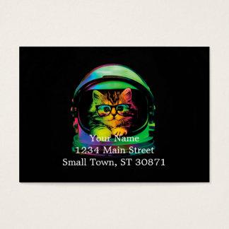 Gato do hipster - astronauta do gato - espace o cartão de visitas