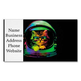 Gato do hipster - astronauta do gato - espace o cartão de visitas magnético